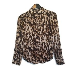 🌷2 for 15$🌷Guess leopard print blouse size XS